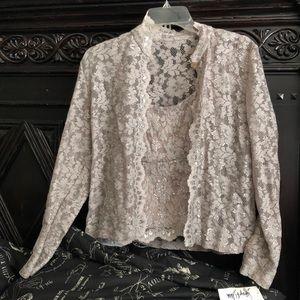 Women's Evening lace blouse 2 piece